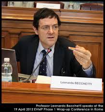 Leonardo Becchetti, editorialista economico dell'Avvenire