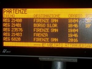 ritardo sulla Faentina, direzione Firenze, la sera di martedì 10 febbraio 2015